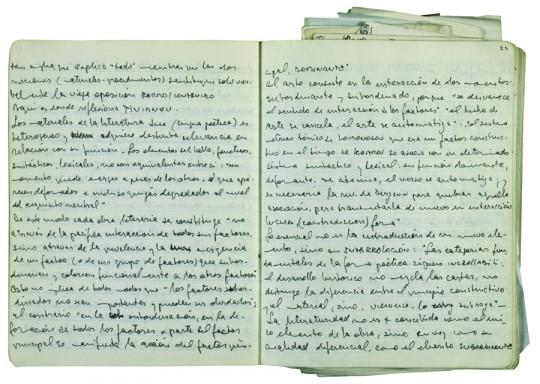 Fragmento del diario de Ricardo Piglia