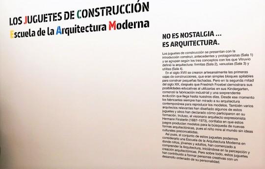 Juguetes de Construcción. Escuela de la arquitectura moderna. 19 de febrero a 15 de mayo de 2016 en el CBA.