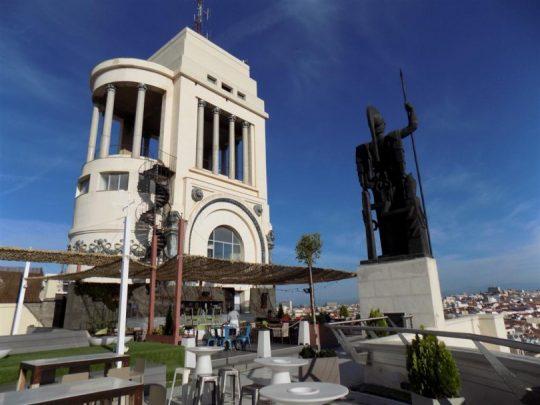 Azotea del Círculo de Bellas Artes, edificio proyectado por Antonio Palacios, inaugurado en 1926.