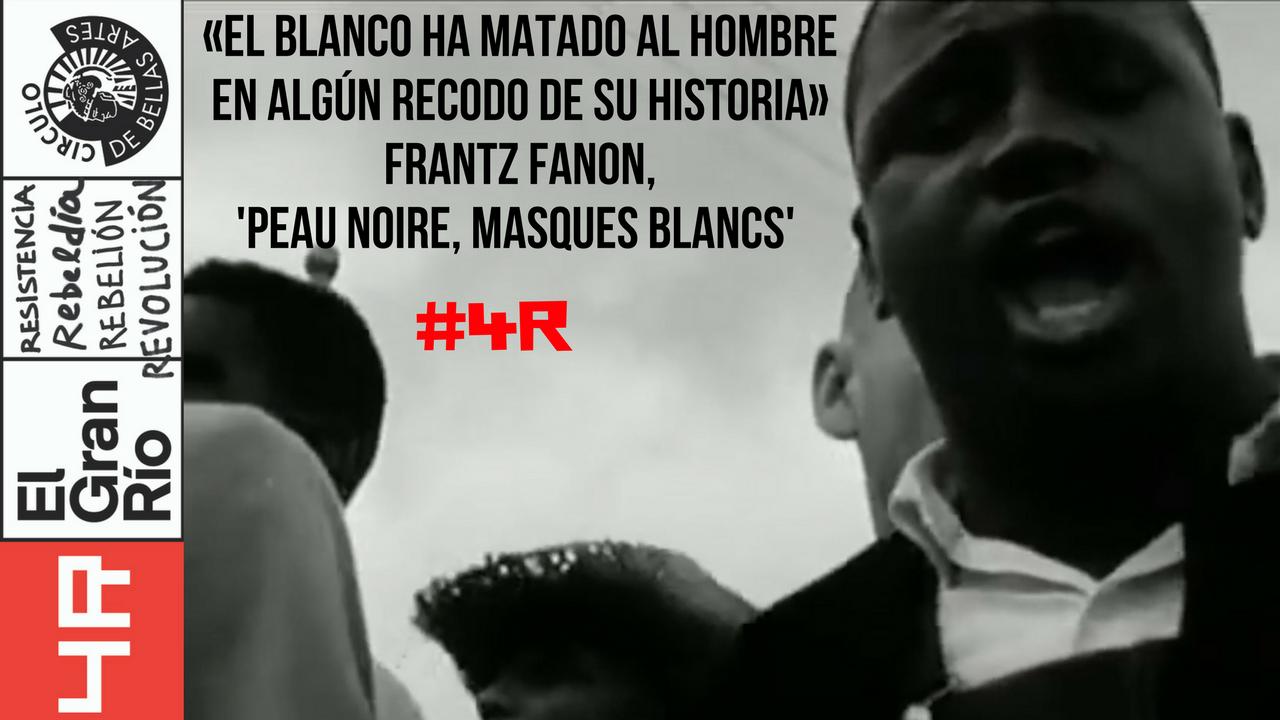 Franz Fanon aparece citado en la expsoición El Gran Río para hablar de racismo.