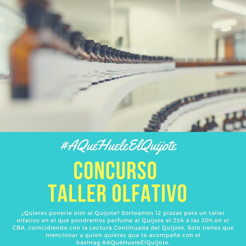 Bases del concurso para el taller #AQuéHueleElQuijote