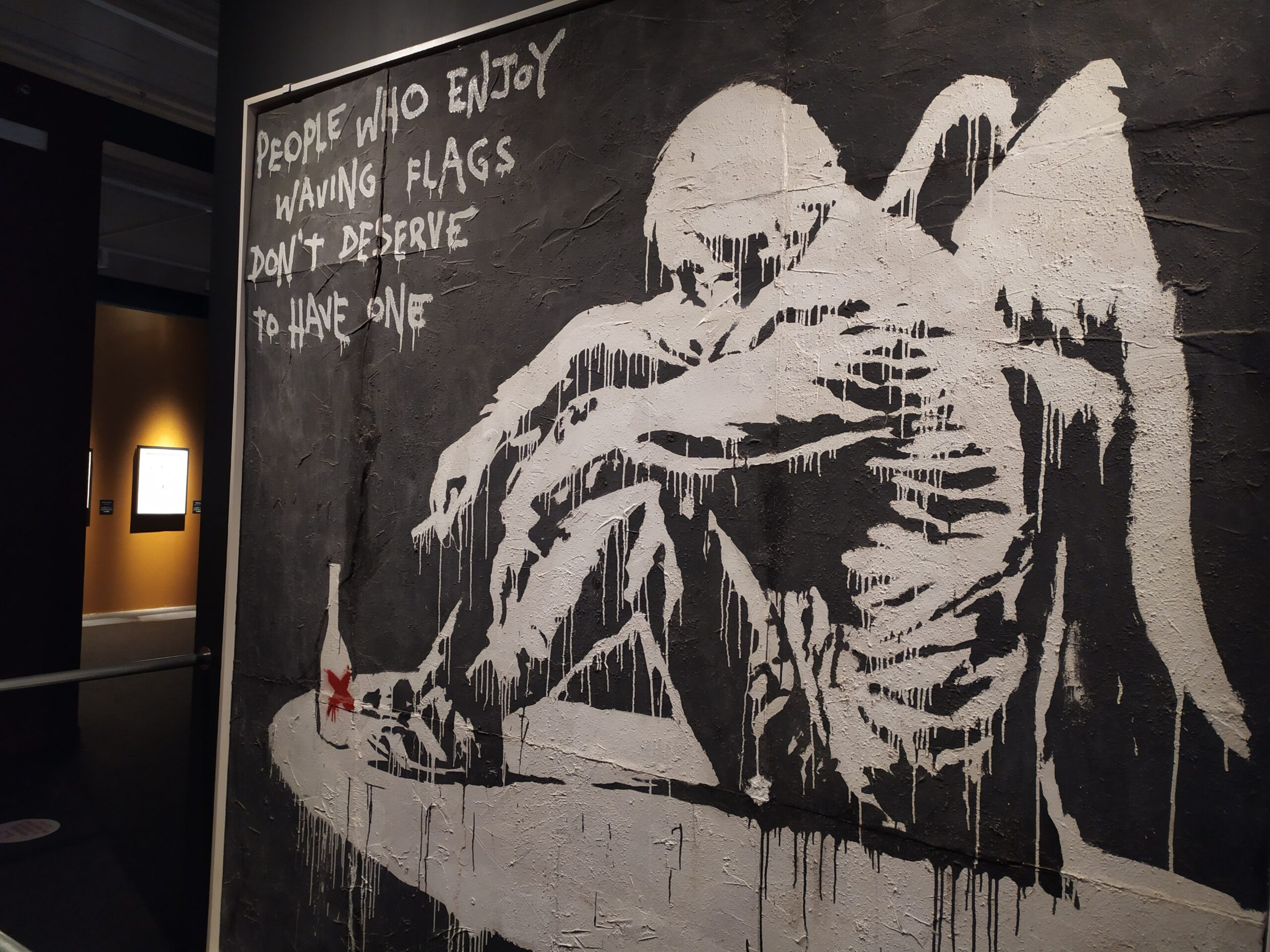 Fallen Angel, obra de BANKSY en The Street is a Canvas.