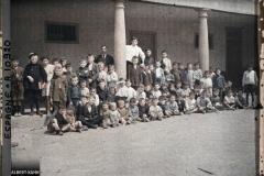 Espagne, Oviedo, Les Gosses de l'Ecole de Santullano (beaucoup de blonds rubios)