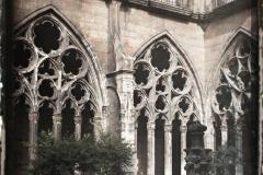 Espagne, Oviedo, Le cloître Gothique de la Cathédrale