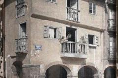 Espagne, Oviedo, L'une des vieilles maisons de la place de la Cathédrale