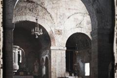 Espagne, Oviedo, Santullano (St Julien) une vue de l'Intérieur, Eglise des IX eme - XII eme- S.