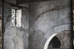Espagne, Oviedo,Santullano, vue prise de la tribune, la vieille partie couverte d'une toiture de bois