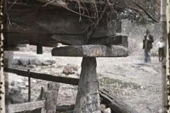Espagne, Oviedo, Un des 4 pieds de l'horreo