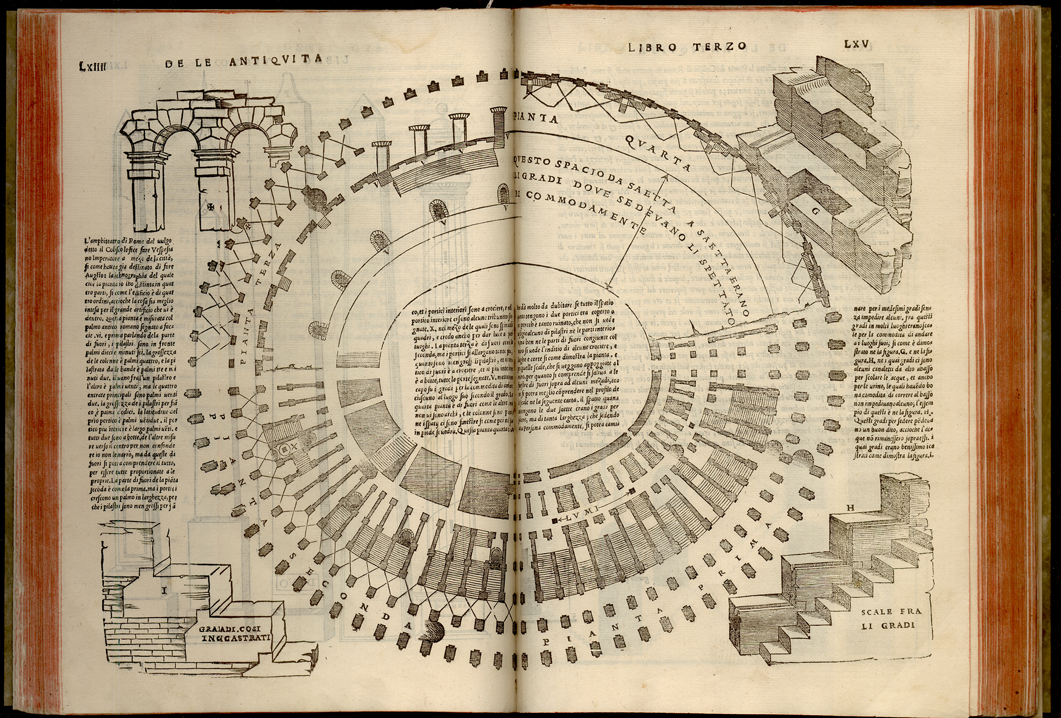 Sebastiano Serlio, Libro primo [-quinto] d' architecture, ca.1551. Venecia