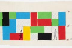 Le Corbusier, boceto para la Maison de l'homme, Zurich, Suiza, 1961-1963.