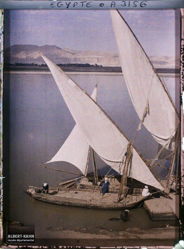 Egypte, Louksor, Bords du Nil à Louksor