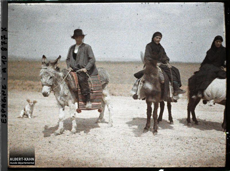 Espagne, D'Astorga à Léon, Trois ânes montés