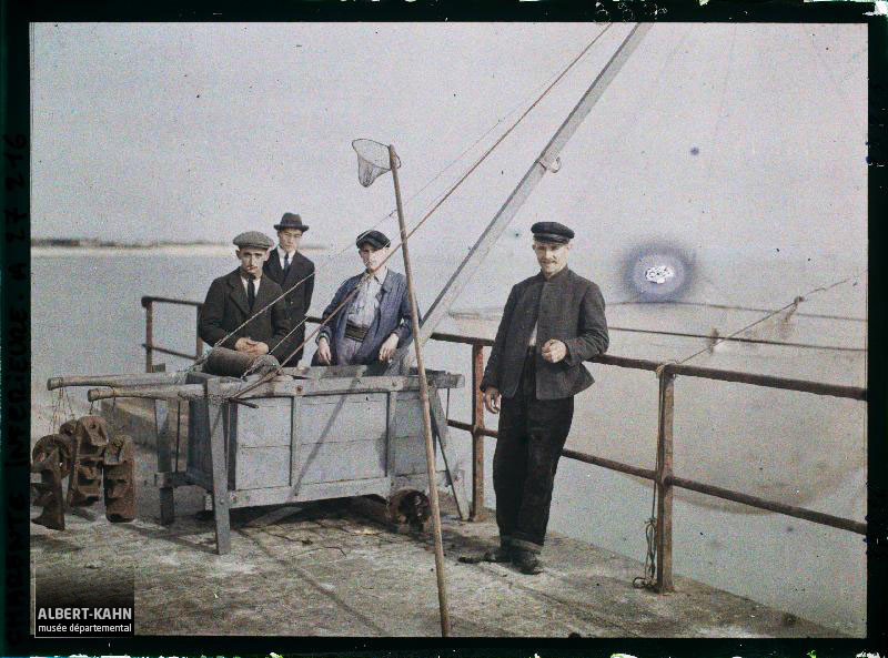 France, La Rochelle, Pêcheurs au Carrelet