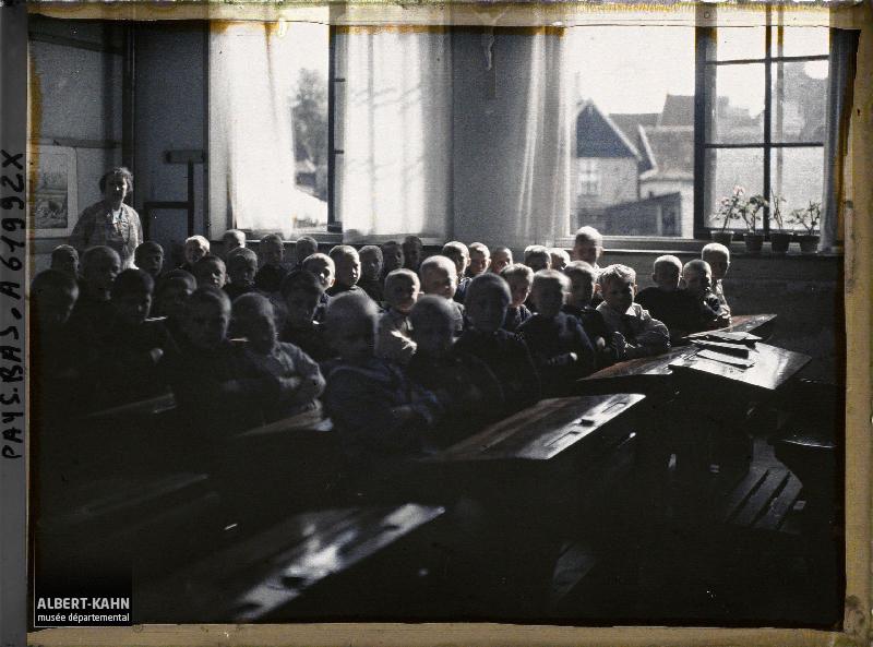 Hollande, Volendam, Ecole Catholique de garçons