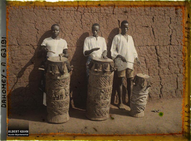 Dahomey, Joueurs de tam-tam (Yorouba)