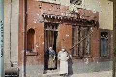 France, Reims, Boucherie chevaline rue Gambetta après bombardement