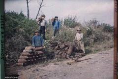 France, Maurepas, Recherche d'Obus boches dans le bois Douage