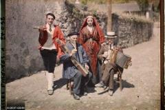 France , Vallée D'Ossau, Les musiciens le jour de la fête