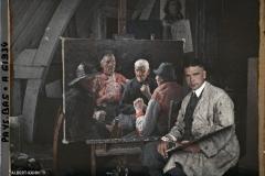 Hollande, Marken, Le Peintre Hering dans son atelier