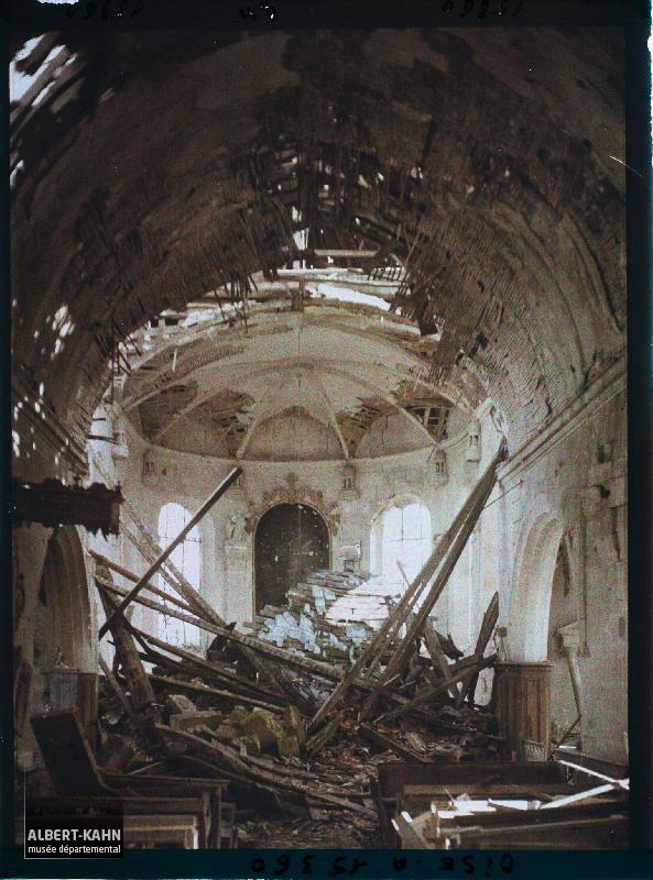 France, Marest, Guerre : La même vue intérieure