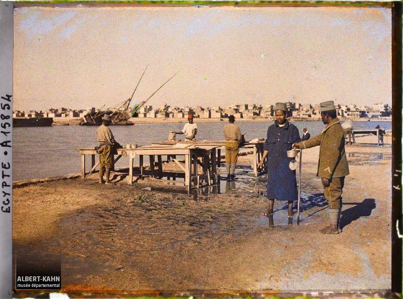 Egypte, Port-Saïd, Lavoir des Malgaches