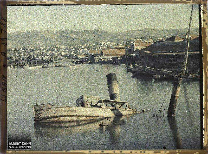 Syrie, Beyrouth, Port; navires coulés pendant la guerre Italo Turque