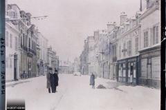 France, Reims, Rue Chanzy (neige)