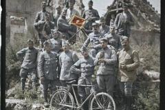France, Chivres, Les Sous-Off du 370e ayant subi l'attaque du 8 juillet au Chemin des Dames