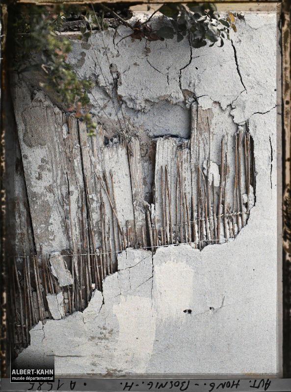 Bosnie, Mostar, Un revêtement des maisons de bois