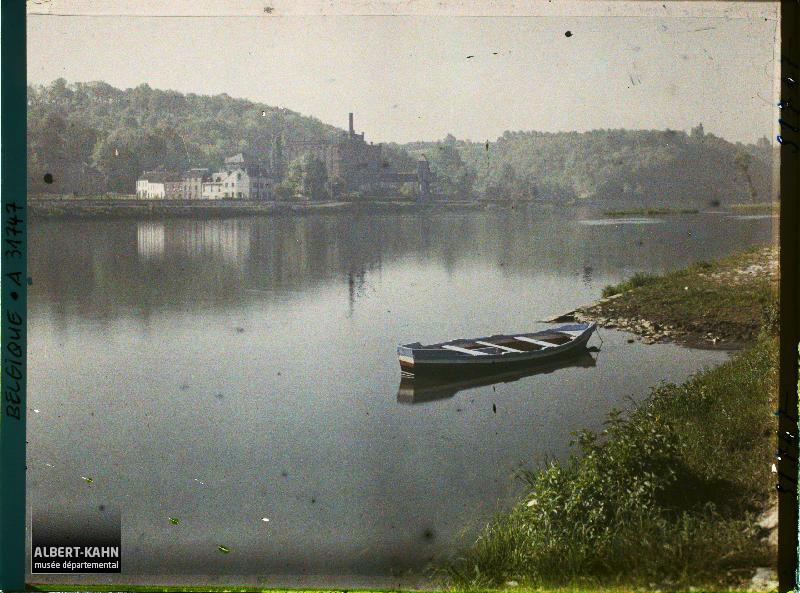 Belgique, Argenteau, Paysages sur la Meuse amont