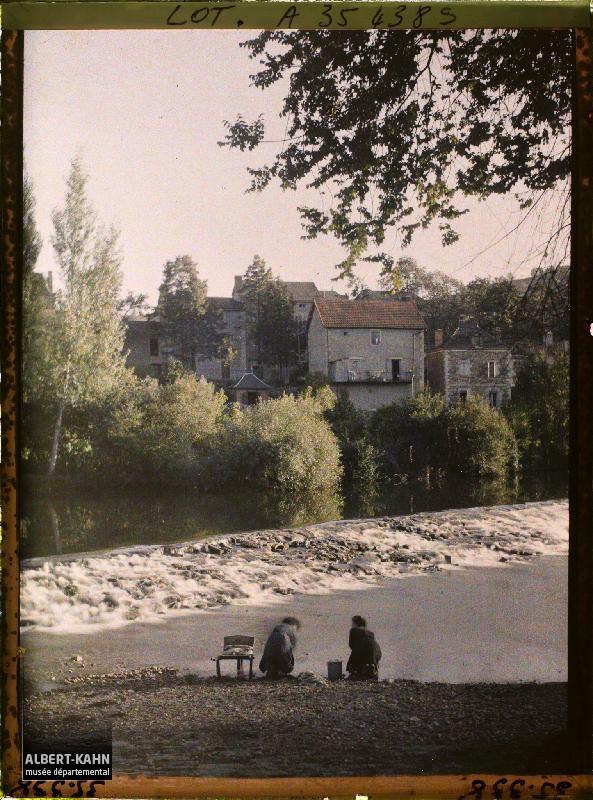 France, Figeac, Paysage sur le Celé
