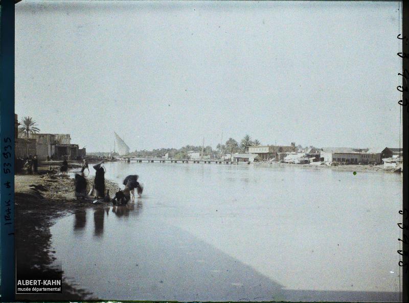 Irak, Hillé, Paysage sur l'Euphrate