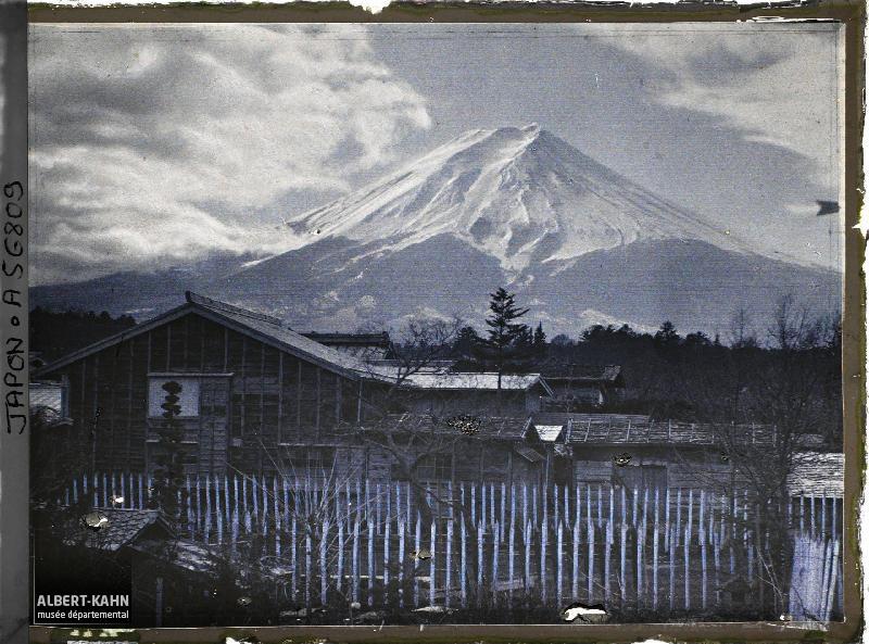 Japon, Yoshida, Fuji-yama, effet du soir