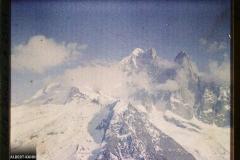 France Les Alpes, Vue prise de la Flégère. Nuage envahissant le sommet de l'aiguille Verte