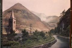 France, Vallée d'Ossau, Paysage à Sarrancolin