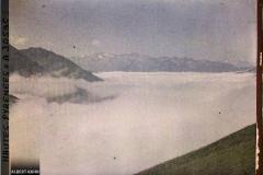 France, La Chaîne des montagnes de Luz au dessus des nuages