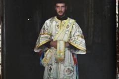 Grèce, Mont-Athos, Vatopediou, Moine officiant