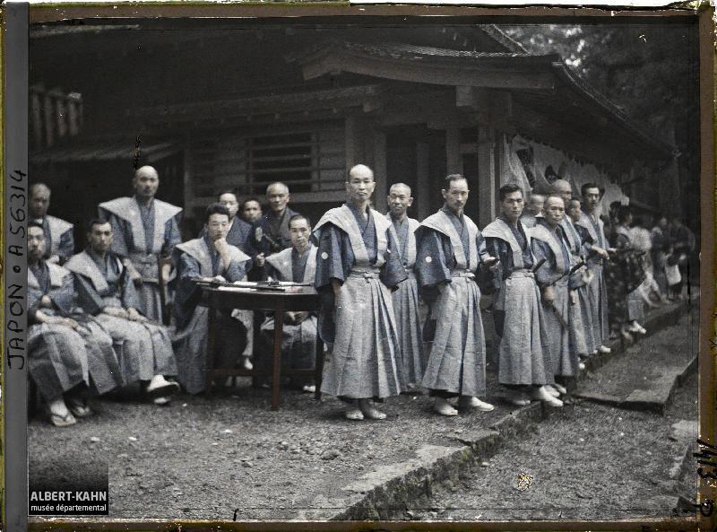 Japon, Nikko, groupe - tenue de samouraï