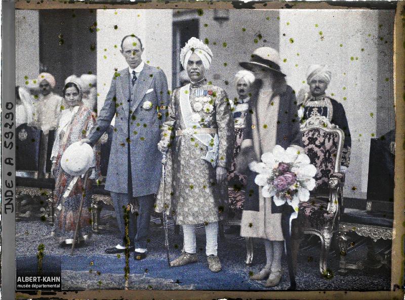 Indes, Kapurthala, Le Vice-Roi- Lady Irwin et le Maharadja de Kapurthala