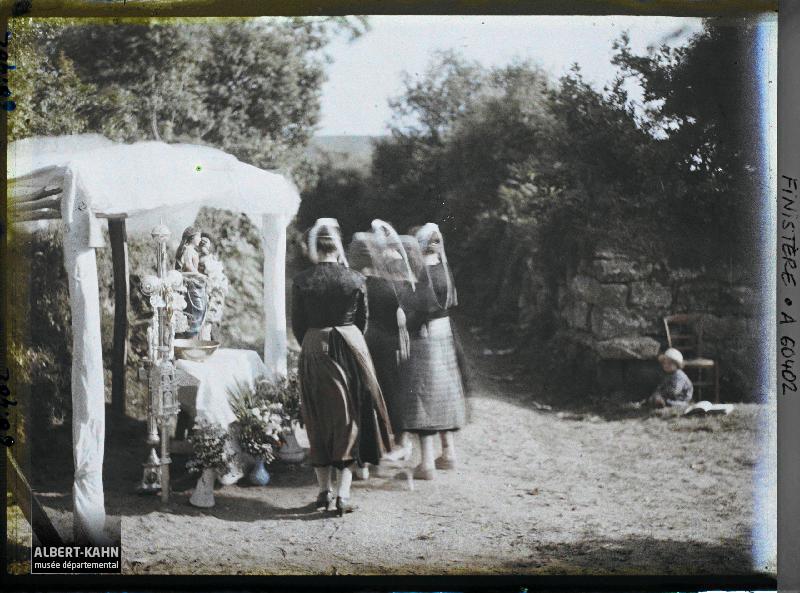 France, Locronan (Bretagne), La Grande Troménie - Reposoir