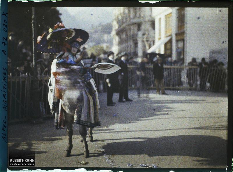 , Nice, France, février 1923 (?), (Autochrome, ),  Roger Dumas (?), Département des Hauts-de-Seine, musée Albert-Kahn, Archives de la Planète, A 72 030