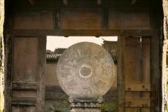 Chine, Pékin, Porte de cour du temple