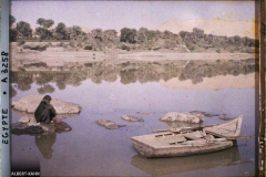 Egypte, Assouan, Savonneuse au bord du Nil