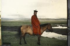 Cavalier Mongol s/ la route d'Ourga