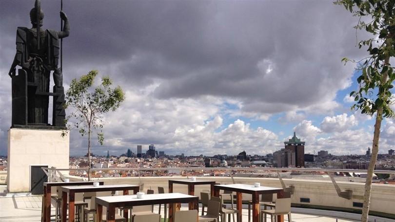 Azotea del CBA: Madrid desde el cielo