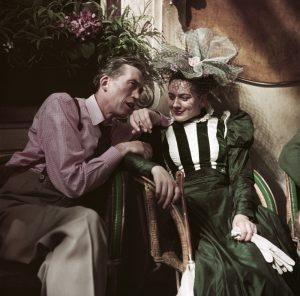 [John Huston at the café Les Deux Magots during the filming of Moulin Rouge, Paris], 1952.
