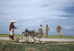 [On the road from Namdinh to Thaibinh, Indochina], May 1954.