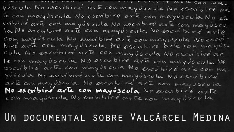 Valcárcel Medina: No escribiré arte con mayúscula
