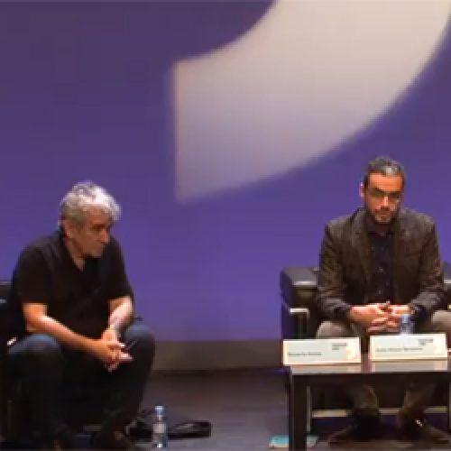 Eduardo Madina, Bernardo Atxaga y Javier Gómez Santander. Conversación.