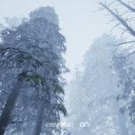 On, bosque templado. Obra de arte portal